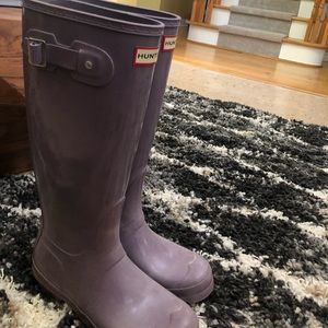 lavender long hunter boots